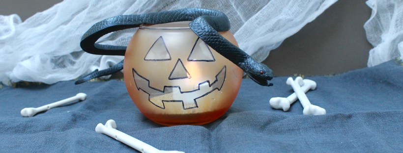 halloween pumpkin candle DIY | Popcorn and Chocolate