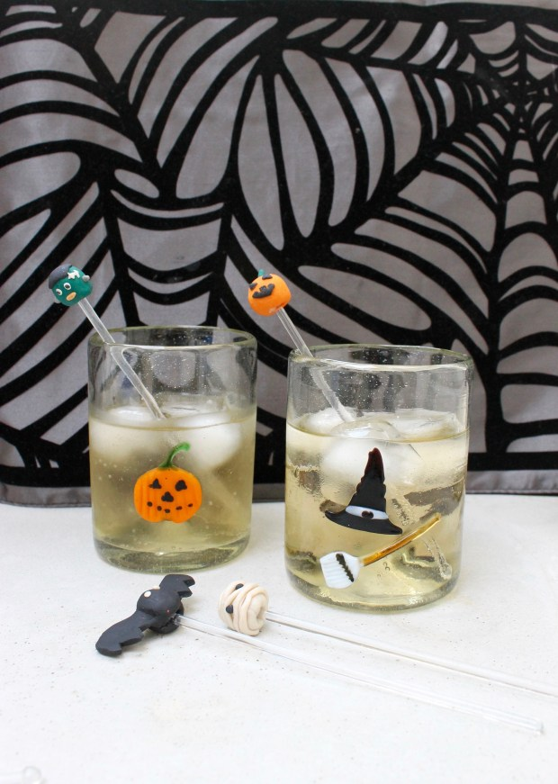 Last Minute Halloween Craft - Sculpey Drink Stirrers | Popcorn & Chocolate