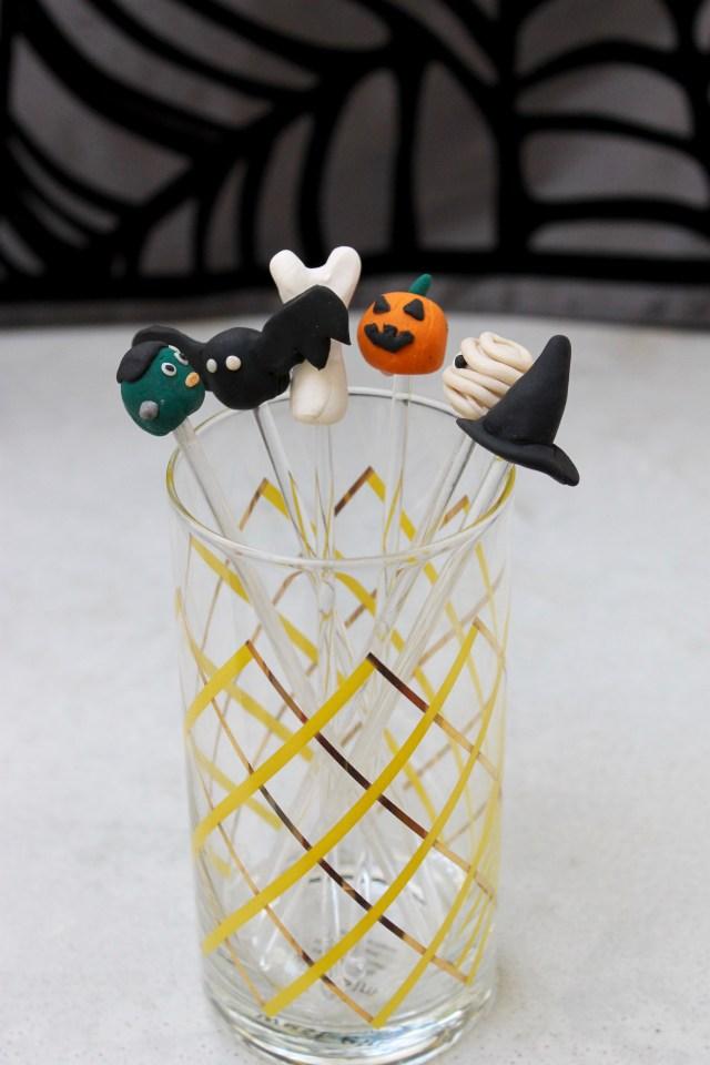DIY Sculpey Drink Stirrers | Popcorn & Chocolate