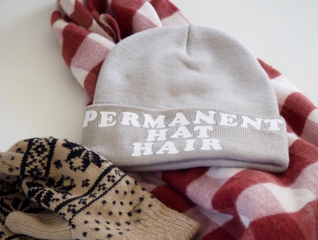 Slogan beanies | Popcorn and Chocolate