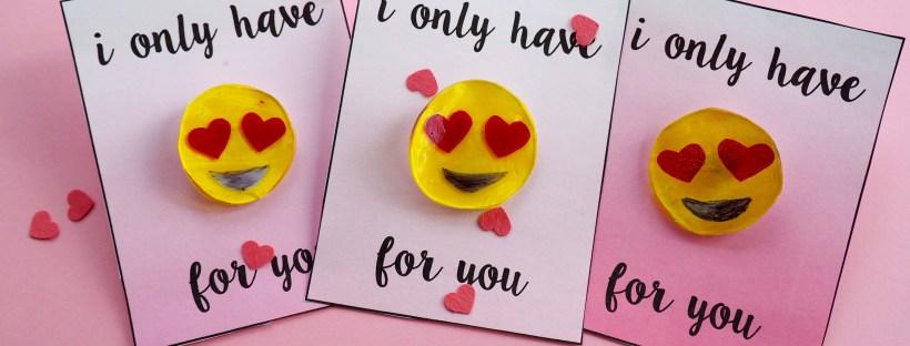 DIY emoji heart valentine with free printable | Popcorn and Chocolate