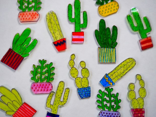 DIY Cactus Shrinky Dinks Lights | Popcorn and Chocolate