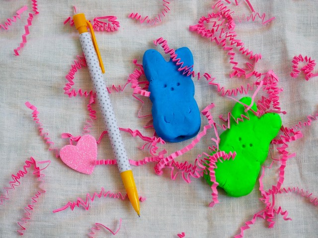 DIY Easter Bunny Erasers | Popcorn and Chocolate