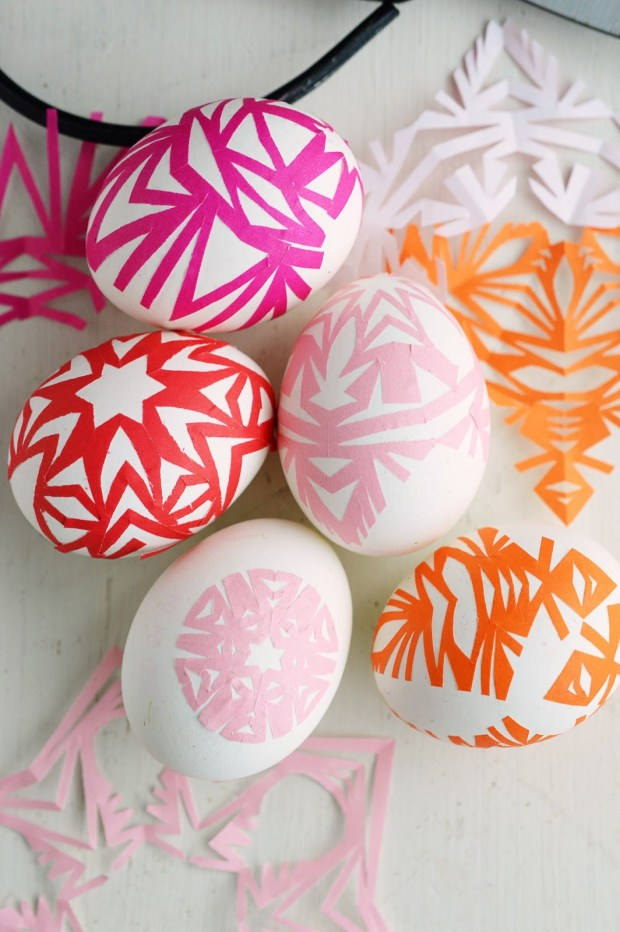 Snowflake Easter eggs