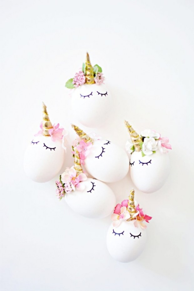 DIY Unicorn easter eggs