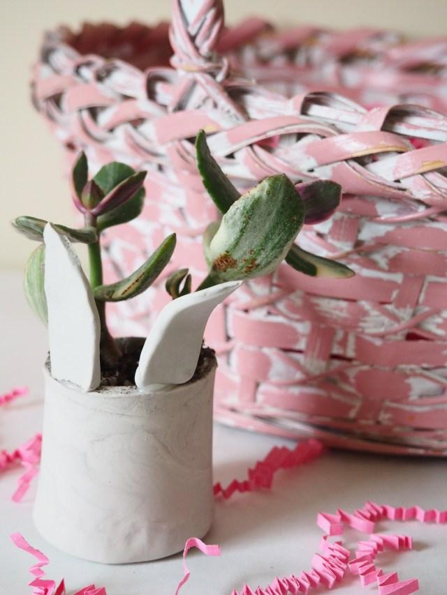DIY Clay Bunny Planter | Popcorn and Chocolate