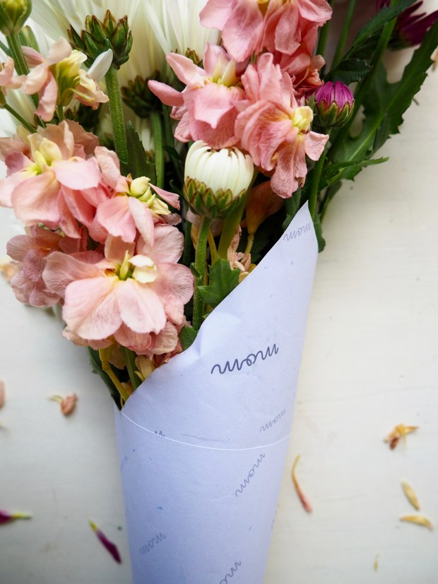 Free Printable Mother's Day Bouquet Wrapper