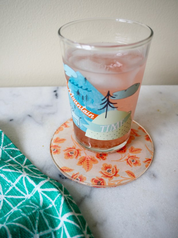 DIY Patterned Coasters Using Resin and Scrapbook Paper | Popcorn and Chocolate