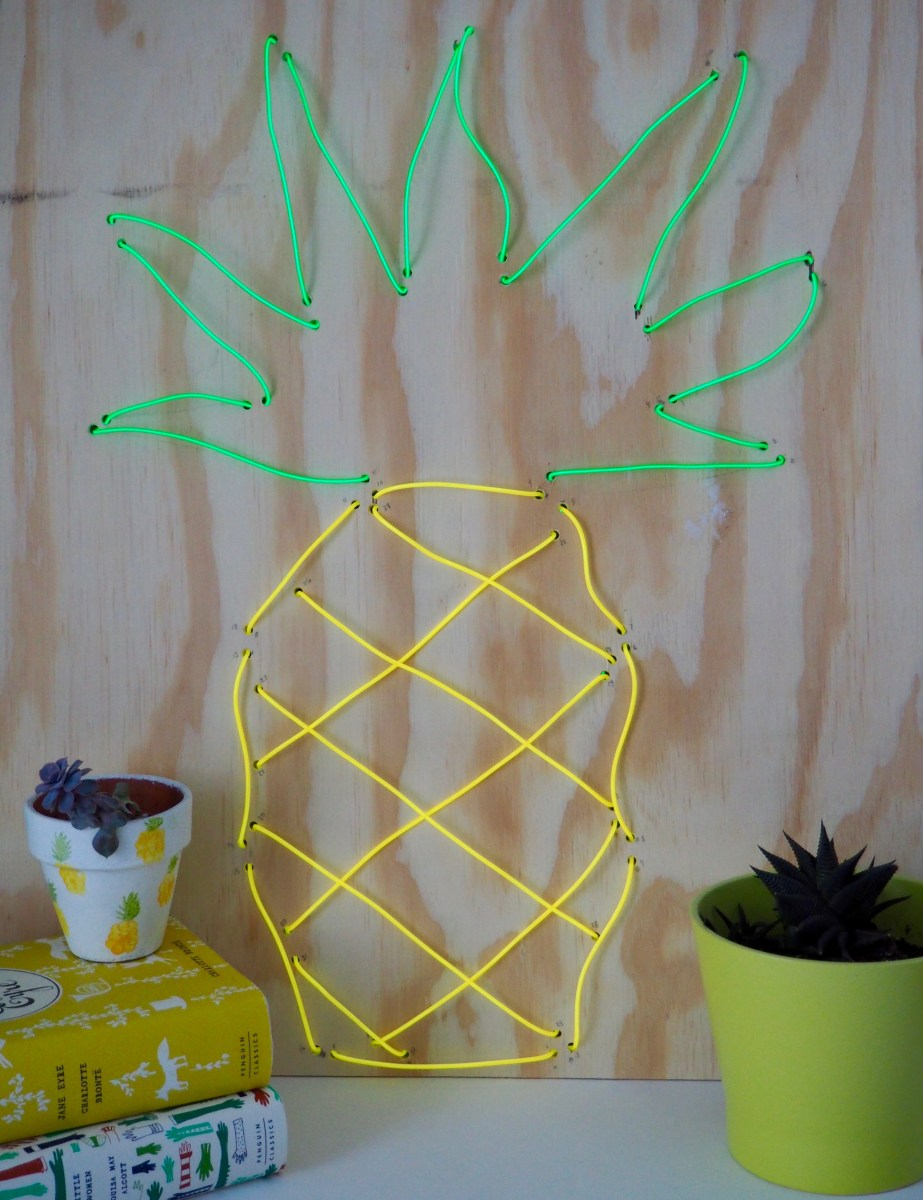 DIY Neon Pineapple Sign | We're Going to Make it