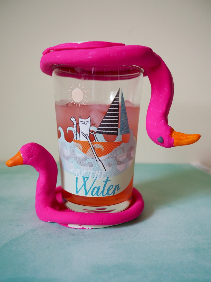 DIY Flamingo Pool Float Coasters | Popcorn and Chocolate