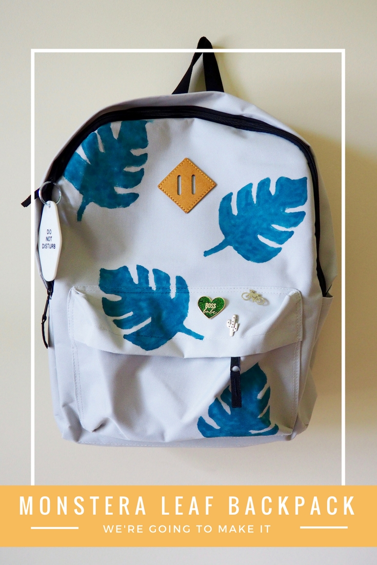 DIY Monstera Leaf Backpack - perfect for back to school | We're Going to Make it