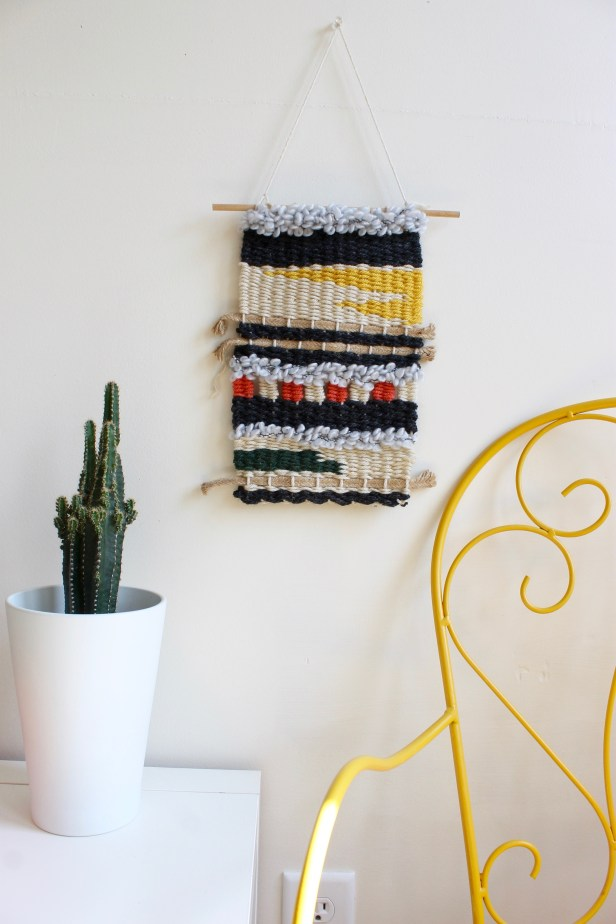 Handmade wall weaving decor