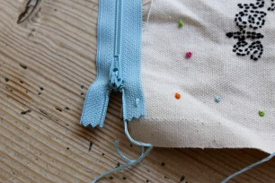 DIY Embroidered pencil case