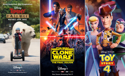 Descendants 3, Toy Story 4, Star Wars: The Clone Wars, Timmy Failure and everything else coming to Disney Plus in February 2020.