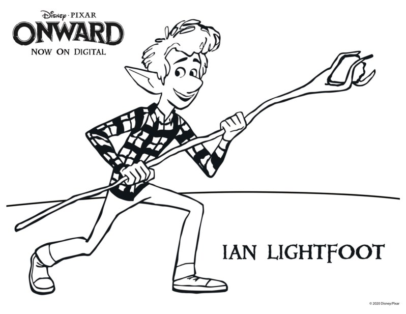 Pixar Onward Coloring Pages - Ian Lightfoot