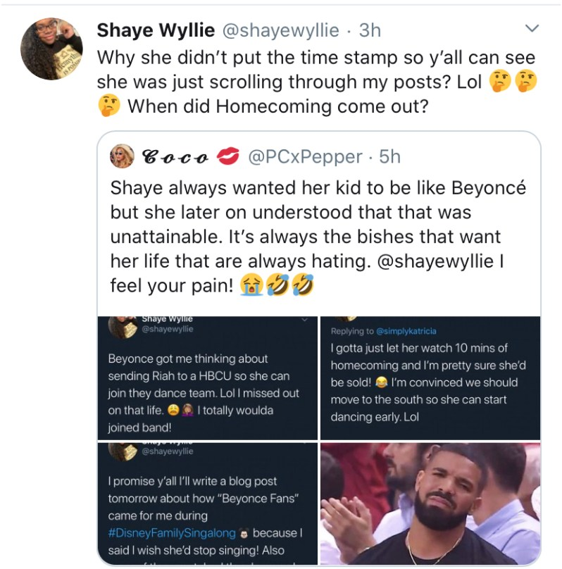 Beyonce Fans Throw Shade During Disney Singalong On Twitter