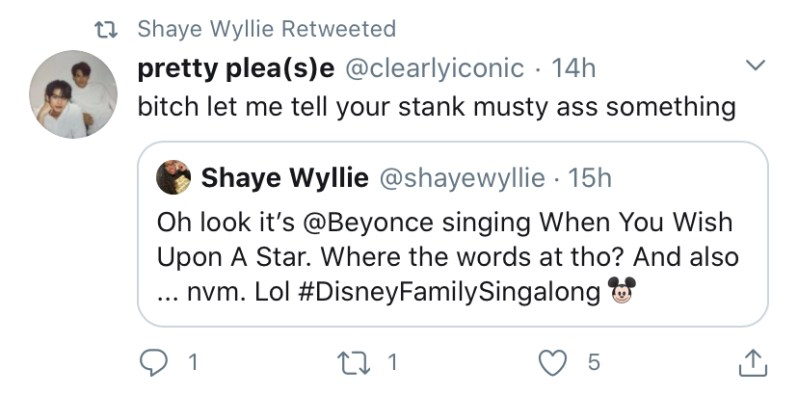 Beyonce Fans Throw Shade On Twitter During Disney Singalong