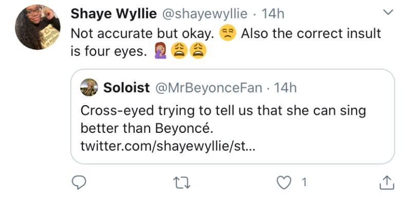 Beyonce Fans Throw Shade