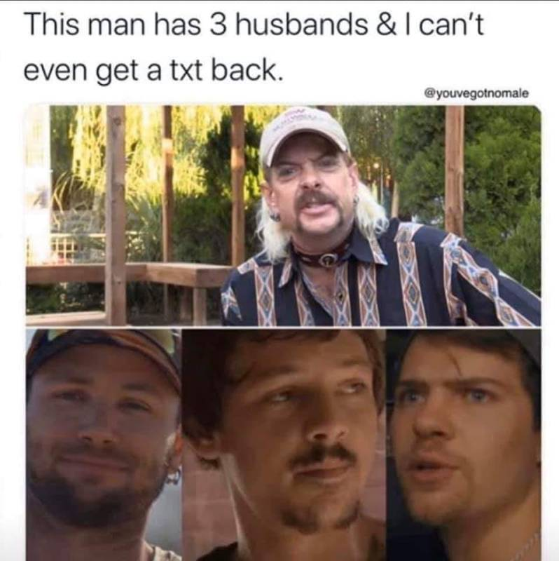meme about joe exotic from tiger king