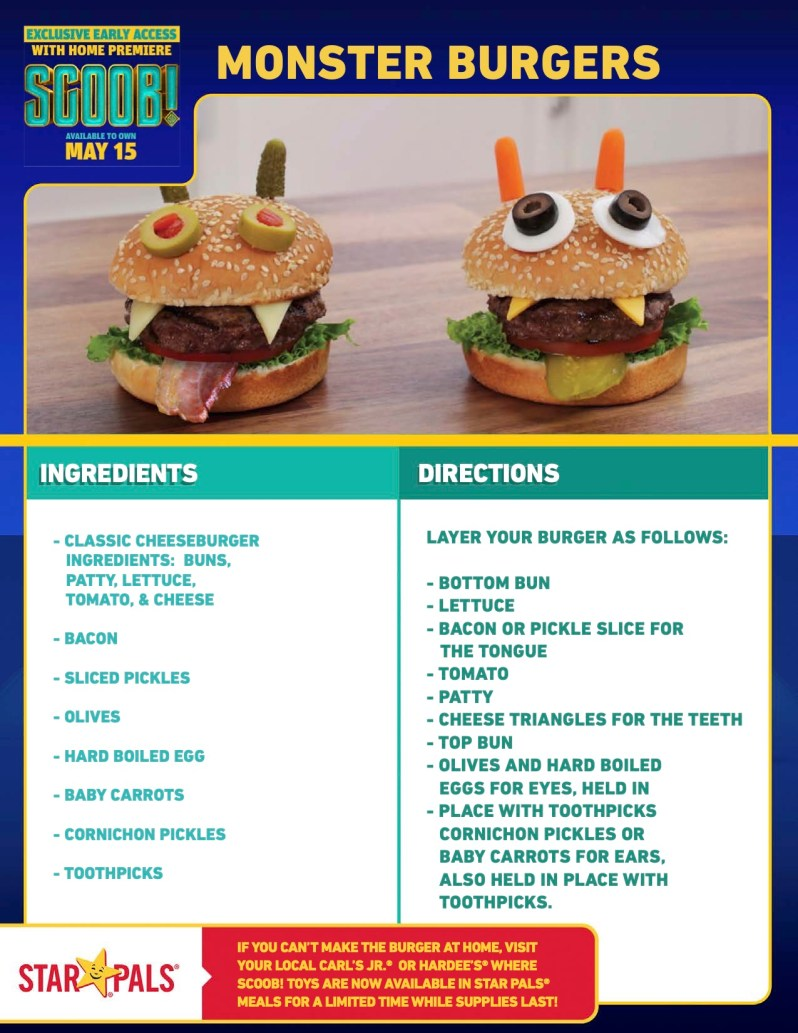 SCOOB Monster Burger Recipe