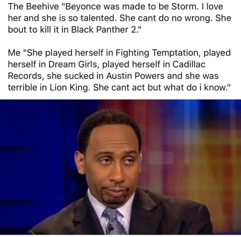 beyonce as storm in black panther 2 memes