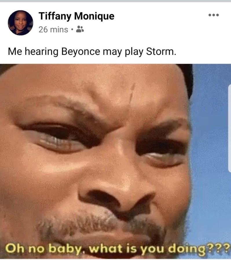 beyonce playing storm memes