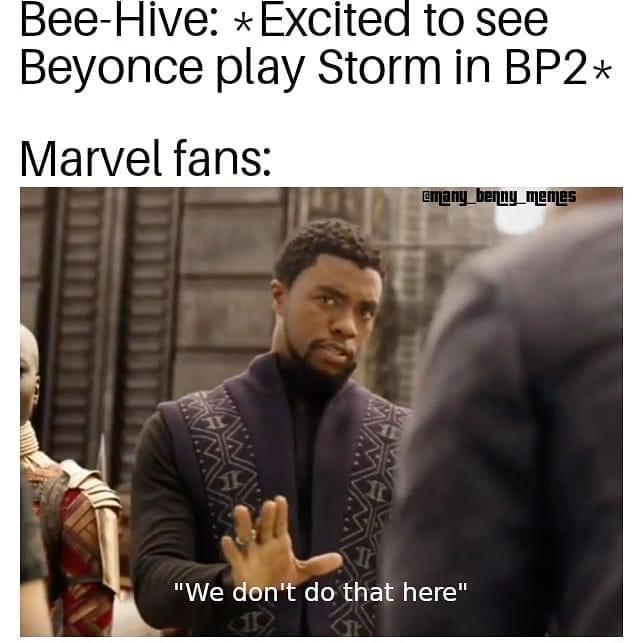 beyonce storm black panther 2 memes