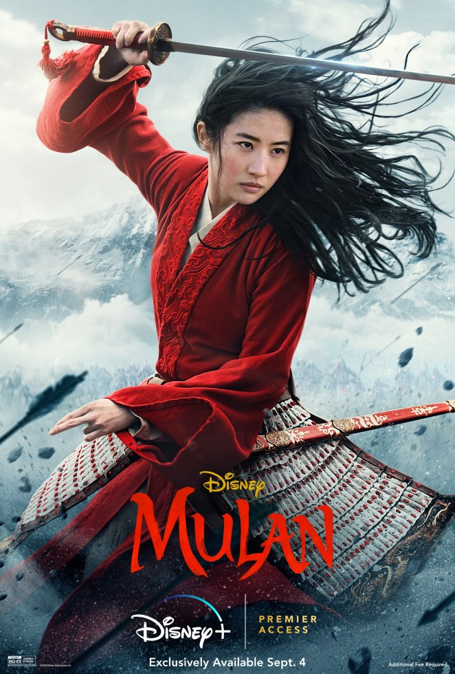 mulan disney plus movie poster