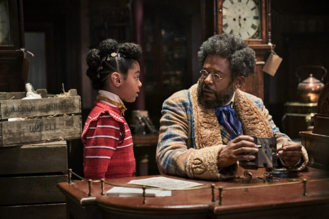 Jingle Jangle First Look Photos Madalen Mills as Journey Jangle and Forest Whitaker as Jeronicus Jangle