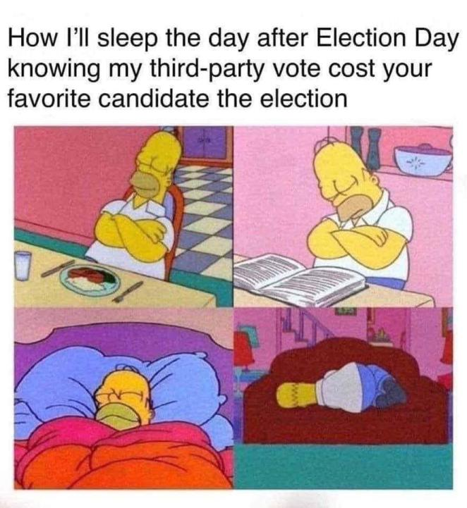 election 2020 memes the simpsons