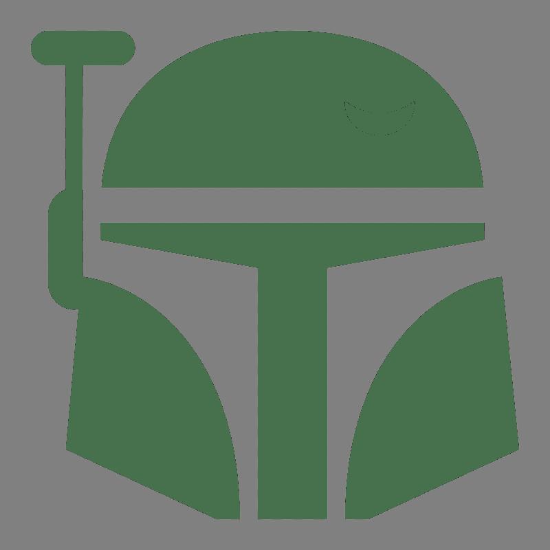 Outline Star Wars Mandalorian Helmet