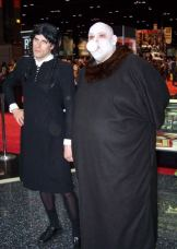 Wednesday Adams and Uncle Fester