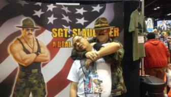 Manny w/ Sgt. Slaughter