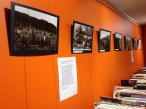 No wasted space - this wall provides a gallery space and currently hosts an historical photograph exhibition.