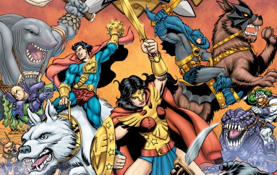 DC SUPER HEROES TAKE ON SWORD AND SORCERY, THE JOKER ON A GIANT LIZARD AND MUCH MORE IN DC PRIMAL AGE CUSTOM COMIC