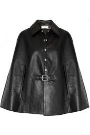 St Laurent Leather Cape