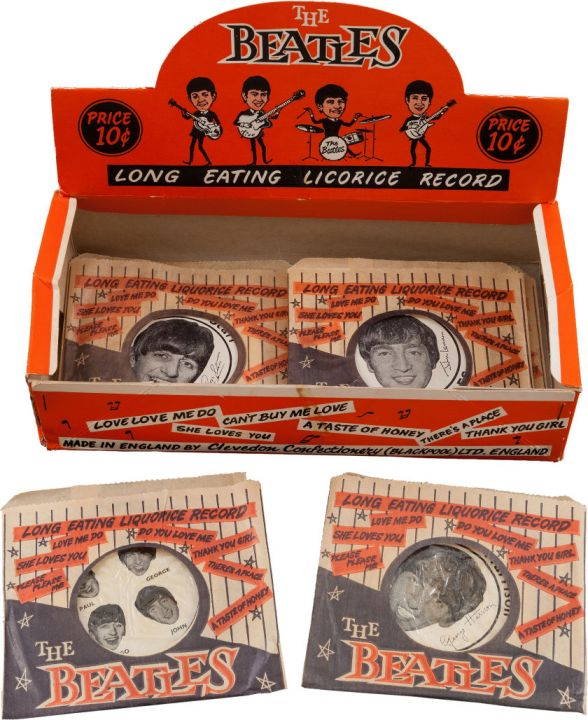 Beatles Licorice Box of Record Candies (Five) (UK, Circa 1963)