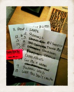 Set List Midnight Ramble 01/29/11