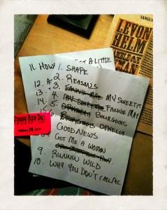Set List Midnight Ramble 01/29/11