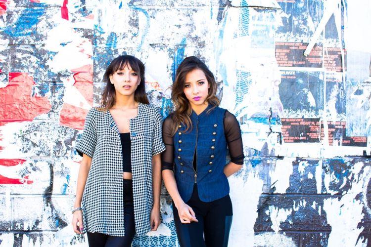 Nalani and Sarina Blue Wall