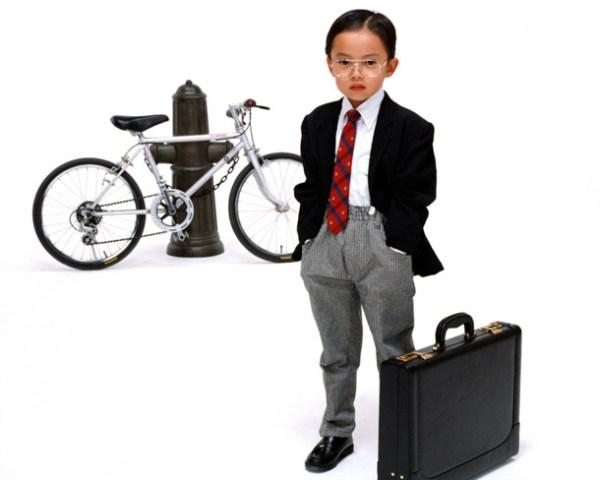 Kid businessman