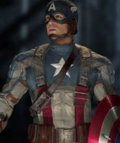 Chris Evans as Captain America in Captain America: The First Avenger