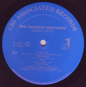 """The Vaughan Brothers """"Family Style"""" Side 1"""