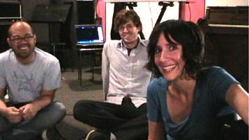 L-R: Chris Hernandez, Charlie Mahoney and Sarah Negahdari of the Happy Hollows