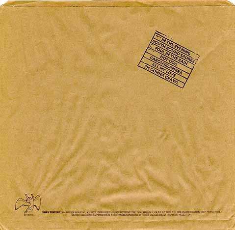 Led Zeppelin Back Cover