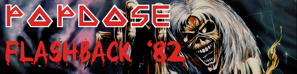 """Popdose Flashback '82 banner: Iron Maiden, """"The Number of the Beast"""""""