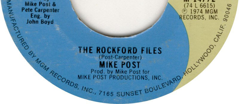 The Rockford Files (Mike Post and Pete Carpenter)
