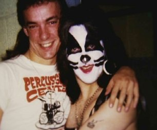 Neil Peart and Peter Criss