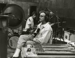 Ry Cooder and son Joachim at work.