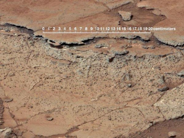 Curiosity rover image of Martian soil.